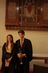 Abigail Ingram and Tom Rickard perfomed Handel