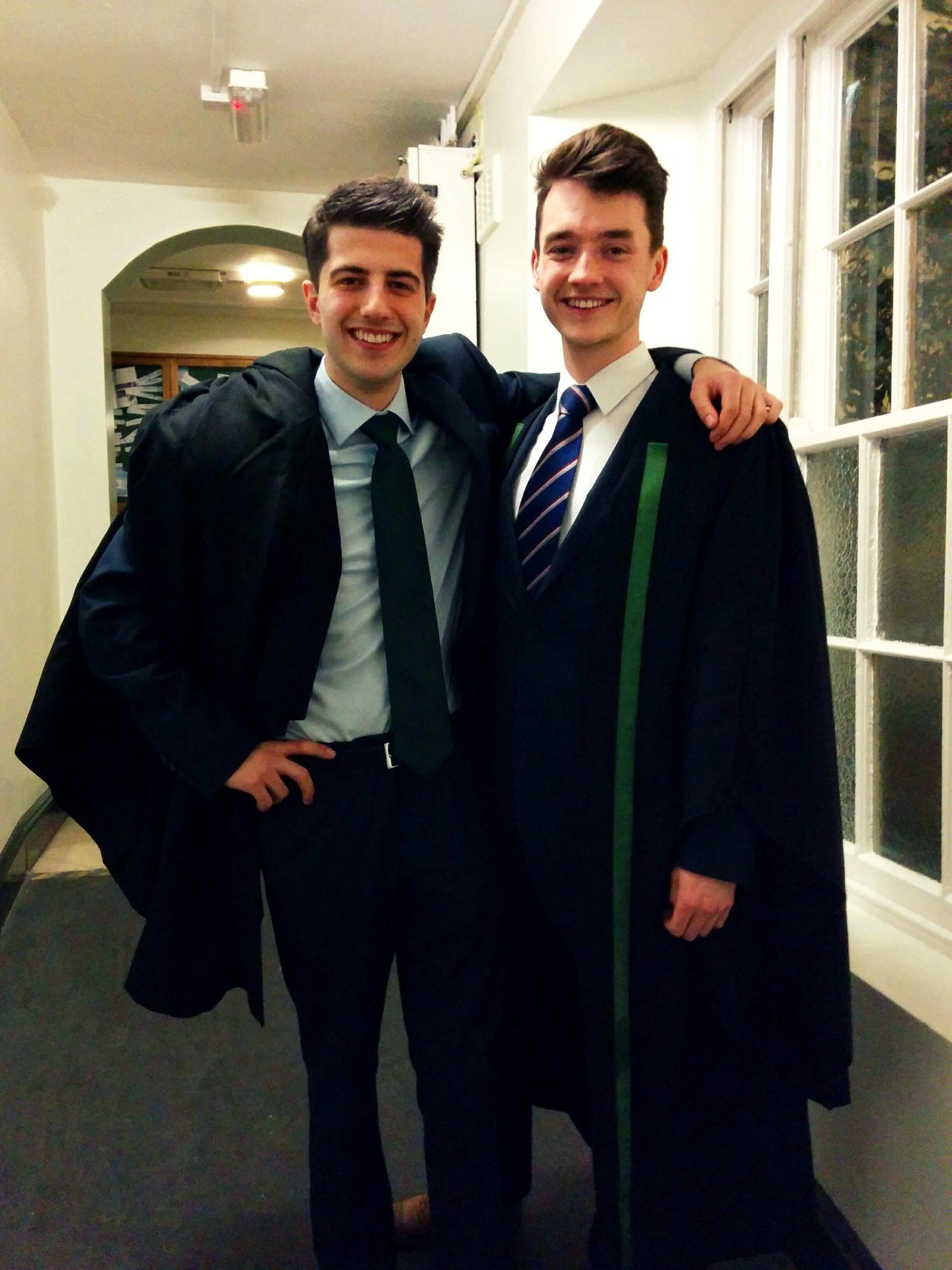 The new JCR Treasurer, DAN Bateson, and Senior Man, Jack Angers
