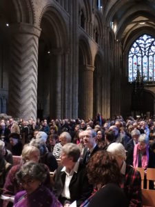 Chadsians past and present fill the nave of Durham Cathedral