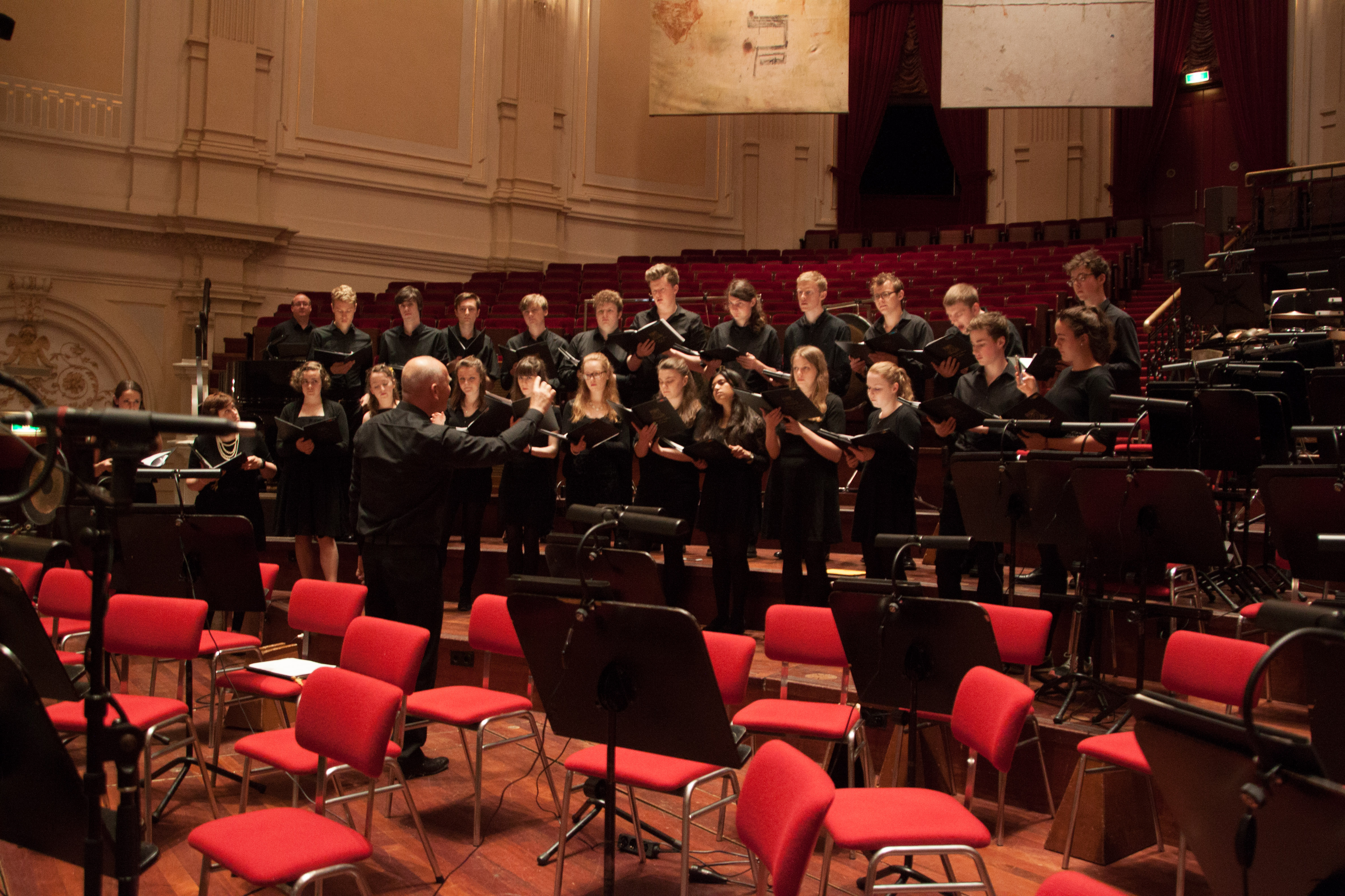 Rehearsing in the Royal Concertgebouw